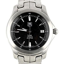 Tag Heuer Link WJF2110 Stainless Steel with Black Dial Automatic 40mm Mens Watch