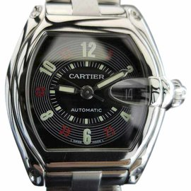 Cartier Roadster 2510 Stainless Steel Black Dial Automatic 38mm Mens Watch