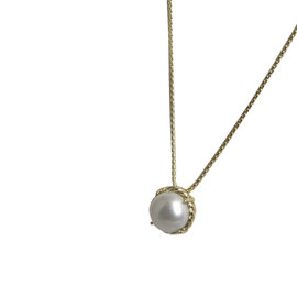 David Yurman Chatelaine 18K Yellow Gold with Pearl Necklace