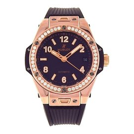 Hublot Big Bang One Click 465.OX.1180.RX1204 18K Rose Gold & Rubber Automatic 39mm Mens Watch