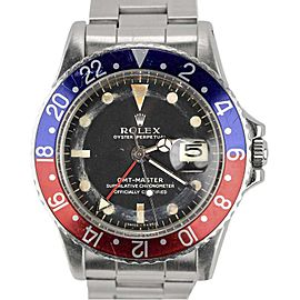 Rolex GMT-Master 1675 Stainless Steel Pepsi Blue Red Mark I 40mm Mens Watch
