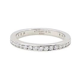 Tiffany & Co. 950 Platinum & 0.40ct. Round Brilliant Diamond Full Circle Wedding Band Ring Size 4.5