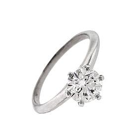 Tiffany & Co. Platinum 1.17ct Diamond Engagement Ring Size 6.5