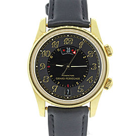 Girard Perregaux Traveller II 4940 18K Yellow Gold Automatic 38mm Mens Watch