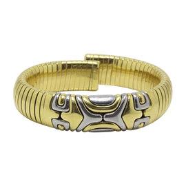 Bulgari Alveare Tubogas 18K White & Yellow Gold Cuff Bracelet