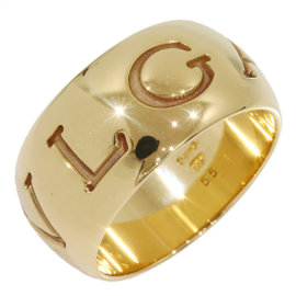 Bulgari Monologo 18K Yellow Gold Band Ring Size 7.25