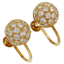 Cartier 18K Yellow Gold Pave Diamonds Mimi Star Earrings