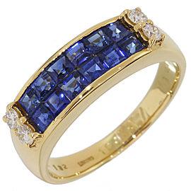 Longines Yellow Gold Diamond, Sapphire Ring
