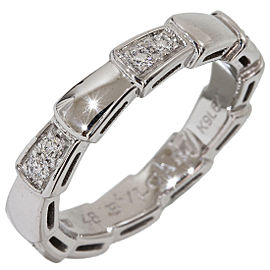 Bulgari Serpenti 18K White Gold and Diamonds Ring Size 4.5