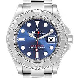 Rolex Yachtmaster Steel Platinum Blue Dial Mens Watch 126622