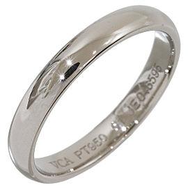 Van Cleef & Arpels Platinum Wedding Band Ring Size 5.75