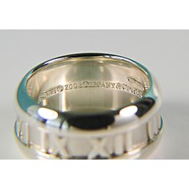 Tiffany & Co. Atlas Numeric 925 Sterling Silver Band Ring Size 5.5