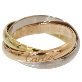 Cartier Trinity de Cartier 18K Pink White & Yellow Gold 3 Gold Ring Size 4.5