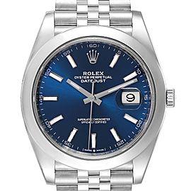 Rolex Datejust 41 Blue Dial Jubilee Bracelet Steel Mens Watch 126300