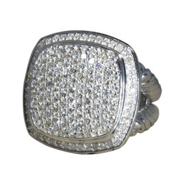 David Yurman Albion 925 Sterling Silver with 1.60ctw. Diamond Ring Size 7