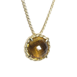 David Yurman Chatelaine 18K Yellow Gold with Citrine Necklace