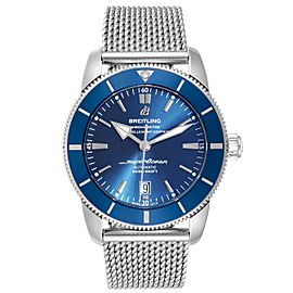 Breitling Superocean Heritage 46 Blue Dial Mens Watch AB2020 Box Card