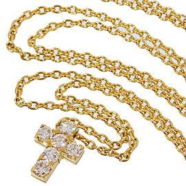 Van Cleef & Arpels 18K Yellow Gold Diamond Pendant