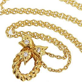 Christian Dior 18K Yellow Gold Diamond Pendant