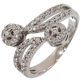 Zoccai 18K White Gold Diamond Ring Size 6.5