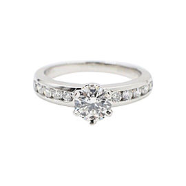Tiffany & Co. 950 Platinum 1.06tcw Diamond Engagement Ring Size 6.25
