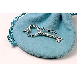 Tiffany & Co. 925 Sterling Silver Heart Twist Key Pendant