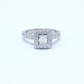 Neil Lane Diamond Engagement Ring Emerald Cut1.375 TCW I SI1 in 14K White Gold