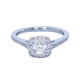 Tiffany & Co. Legacy 950 Platinum 0.66tcw Diamond Engagement Ring Size 5.5