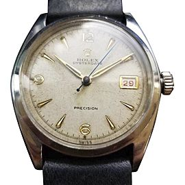 Rolex Oysterdate Precision 1550 Vintage 34mm Mens Watch