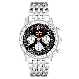 Breitling Navitimer 01 Black Dial Steel Mens Watch AB0120