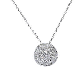 Roberto Coin 18K White Gold with 0.50ctw Diamond Pendant Necklace