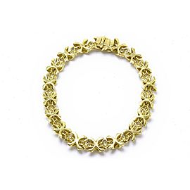 Tiffany & Co. Signature 18K Yellow Gold Diamond Bracelet
