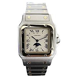 Cartier Santos Moonphase 2510 30mm Mens Watch