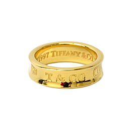 Tiffany & Co. 1887 18K Yellow Gold Band Ring Size 6.5