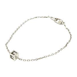 Gucci 18K White Gold G Cube Bracelet