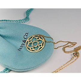 Tiffany & Co. Paloma Picasso 18K Yellow Gold Zellige Medallion Pendant Necklace