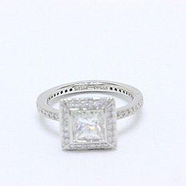 Ritani Endless Love Princess Diamond Engagement Ring 1.70 tcw H VS1 in Platinum