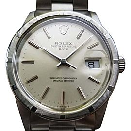 Rolex Oyster Perpetual Date 5010 Vintage 34mm Mens Watch