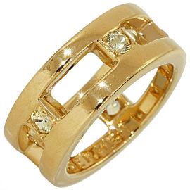 Hermès 18K Yellow Gold Sapphire Ring Size 5.25