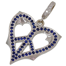 Loree Rodkin 18K White Gold Diamond, Sapphire Pendant