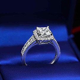 18k White Gold Engagement 1.57ct Diamond Ring