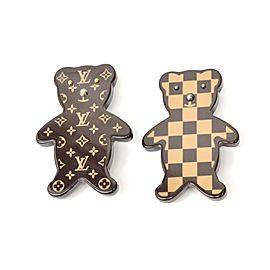 Louis Vuitton Plastic Bear Motif Pin Monogram Brooch