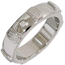 Harry Winston 18K White Gold Diamond Ring Size 4