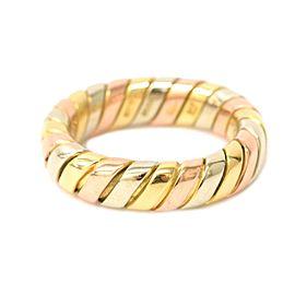 Bulgari Tubogas 18K Rose and Yellow Gold Ring Size 4
