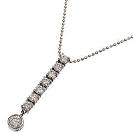 De Beers 18K White Gold Diamond Pendant