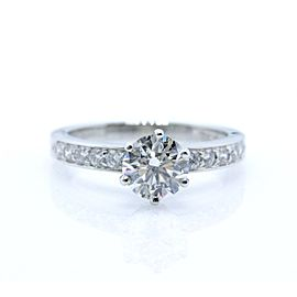 Tiffany & Co. Platinum 1.27ctw. Diamond Engagement Ring Size 6