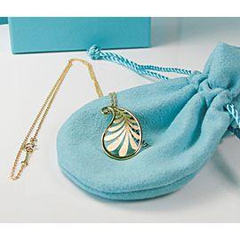 Tiffany & Co. Paloma Picasso 18K Yellow Gold Villa Paloma Paisley Palm Pendant Necklace