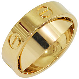 Cartier Love 18K Yellow Gold Pendant / Ring Size 5.75