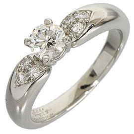 Van Cleef & Arpels Diamond Platinum Diamond Ring Size 5.75