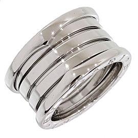Bulgari Bvlgari 18K White Gold Ring Size 4.75